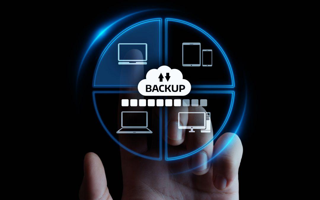 Backup Storage Data Internet Technology Business Concept.